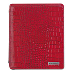 "Mayline Deluxe iPad Case, Simulated Leather, 9-3/4"" x 4-3/10"" x 11-1/8"", Red"