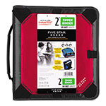 "Mead Zipper Binder Plus Expandable Panel, 11 x 8 1/2, 2"" Capacity, Red"