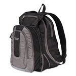"Mead Expandable Backpack, 14"" x 8"" x 19"", Gray/Black"
