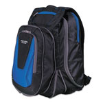 "Mead Expandable Backpack, 14"" x 8"" x 19"", Blue/Black"