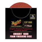"Meguiars Unigrit 3"" P1000 Foam Finishing Disc - 15 pack"