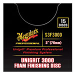 "Meguiars Unigrit 3"" P3000 Foam Finishing Disc - 15 Pack"