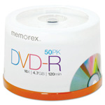Memorex DVD R Recordable Discs on Spindle, 4.7 GB, Silver, 50/Pack