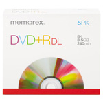 Memorex Dual-Layer Dvd+R Discs, 8.5GB