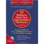 "Merriam-Webster International Dictionary,9 1/2""x12 3/16"", Blue"
