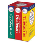 Merriam-Webster Everyday Language Reference Set, Dictionary, Thesaurus, Vocabulary Builder