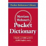 "Merriam-Webster Dictionary, Pocket, Flexible Paperback, 3 1/2""x5 7/16"", Red"