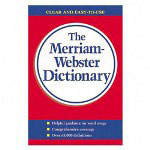 "Merriam-Webster Paperback Dictionary, 720 Pages, 5 3/4""x8 1/2"""