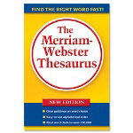 "Merriam-Webster Thesaurus, 5 3/4""x8 1/2"", Paperback"