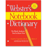 Merriam-Webster Notebook Dictionary, Three Hole Punched, Paperback, 80 Pages