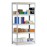 "Metal Box International Industrial Open Shelving Unit, 36"" x 18"", 5 Shelves, Silver"