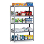 "Metal Box International Heavy Duty Open Shelving Unit, 36"" x 18"", 5 Shelves, Silver"