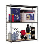 "Metal Box International Wide Span Open Shelving Unit, 60"" x 18"", 3 Shelves, Boltless, Gray"