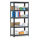 "Metal Box International Commercial Open Shelving Unit, 36"" x 16"", 5 Shelves, Silver"