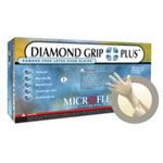 Micro Flex DIamond Grip Plus Powder Free Latex Exam Gloves - Large
