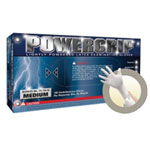 Micro Flex Powergrip Lightly Powdered Latex Gloves - Medium
