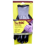 Magid The ROC Nitrile Coated Palm, Grey Nylon Shell Glove - Medium