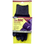 Magid The ROC Polyurethane Coated Palm, Black Nylon Shell Glove - Large