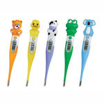Mabis Healthcare Childrens Animal Thermoometers with 5 Covers, 5/Pack, Assorted