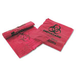 "Unimed-Midwest Infectious Waste Bags, 3 Gallon, 14"" x 18-1/2"", 200 Bags/BX, Red"