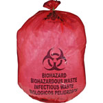 "Unimed-Midwest Biohazard Waste Bag, 20-25 Gallon, 31"" x 41"", 50/BX, Red"