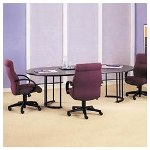 Hon Racetrack Conference Table Top with Ribbon Edge, 36 x 72, Mahogany