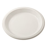 "Pactiv 10"" Plastic Plate, White"