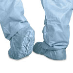 Medline Scrub Shoe Cover, Skid-Resistant, 100/Pack, Blue