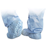Medline Scrub Shoe Cover, X-Large, Skid-Resistant, 100/BX, BE