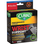 Medline Wrist Support, Curad, Microban Anti microbial , Black