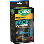 Medline Lower Back Support, Curad, Lightweight, Black