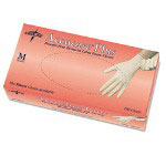 Medline Accucare Plus PF Disposable Polymer Latex Gloves, Powder-Free, Small, 100/Box