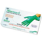 Medline Aloetouch Disposable Powder-Free Latex Exam Gloves, Small, 100/Box