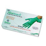 Medline Aloetouch Disposable Powder-Free Latex Exam Gloves, Large, 100/Box