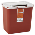 Medline Sharps Container, Freestanding & Wall Mountable, 5qt, 23 1/2 x 19 7/10 x 28, Red