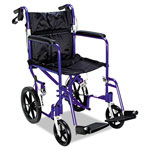 Medline Excel™ MDS808210AB Deluxe Aluminum Transport Wheelchair