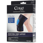 Medline Knee Support W/ Pad, Curad, Microban Anti-microbial, Black