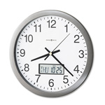 "Howard Miller Clock 14"" Diameter Chronicle Wall Clock, Metallic Gray Plastic Case"