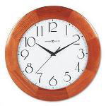 "Howard Miller Clock Santa Fe Wall Clock, 12 3/4"" diameter x 1 1/2d, Champagne Oak Finish Case"
