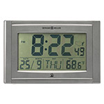 Howard Miller Clock Techtime IV, Metallic Gray