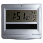 Howard Miller Clock Solar Tech Desk/Wall Clock, 8 1/2 x 7 1/2, Satin Silver