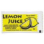 Diamond Flavor Fresh Condiment Packets, Lemon Juice, 4 g Packets, 200/Box