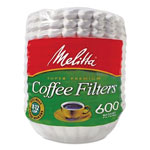 Melitta Basket Style Coffee Filters, Paper, 8 to 12 Cups, 600/Pack