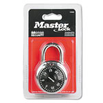"Master Lock Company Combination Lock, 1 7/8"" Wide, Black Dial"