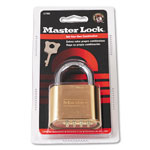 "Master Lock Company Resettable Combination Padlock, 2"" wide, Brass"