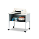 Mayline Mobile Machine Stand, 1-Shelf, 30 x 21 x 26-1/2, Gray