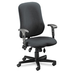 Mayline Comfort Series Swivel Task Chair, Gray Fabric