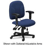 Mayline Comfort Series Swivel Task Chair, Blue Fabric