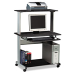 Mayline Eastwinds Multimedia Workstation, 36-3/4w x 21-1/4d x 50h, Charcoal Laminate Top