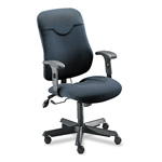 Mayline Comfort Series Executive Swivel Task Chair, Gray Fabric